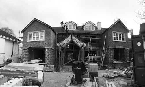 Castleknock site progress front view