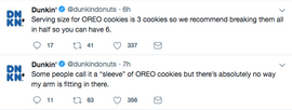 Dunkin' Swapped Tweets