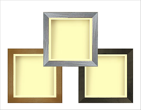 Square Shadow Boxframe with Ivory Mount - Various Sizes