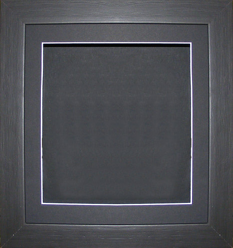 "13""x13"" Black Box Frame with Black Mountboard"