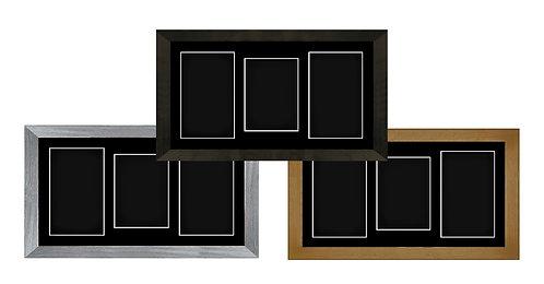 "15"" x 9"" Shadow Box Frame with Black Mount"