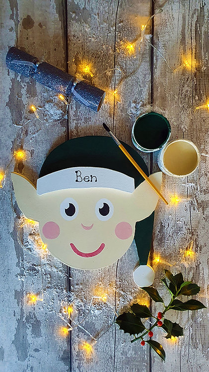 Large Santa's Elf Sign - Painted and Personalised