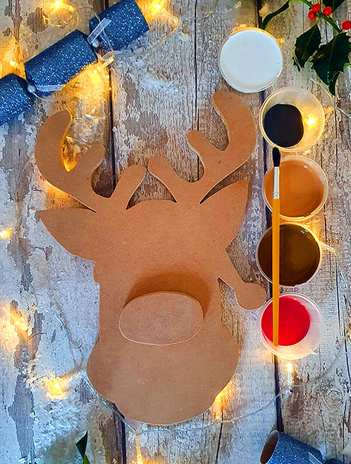 Large Rudolph Sign (Paint Your Own)