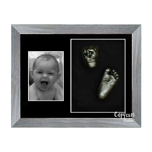"Baby Casting Kit with 12""x9"" Slate Grey Box Frame and Black Mount"