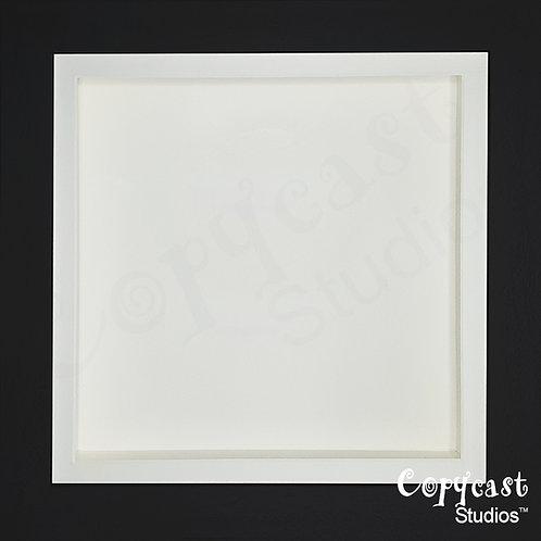 Jet Black Shadow Box Frame with Antique White Mount - Various Sizes