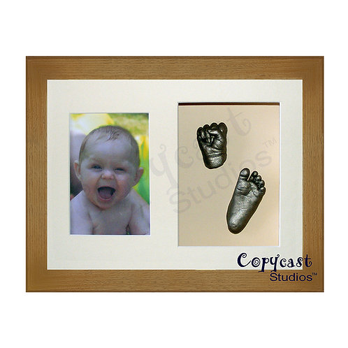 "Baby Casting Kit with 12""x9"" Caramel Box Frame and Cream Mount"