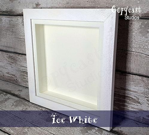 """13""""x13"""" Ice White Box Frame with Antique White Mountboard"""