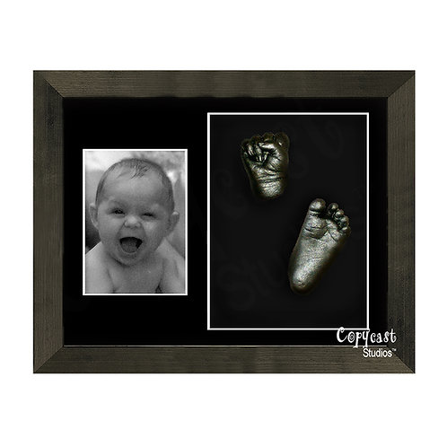 "Baby Casting Kit with 12""x9"" Denim Black Box Frame and Black Mount"