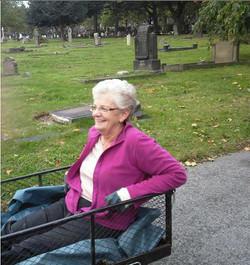 Pam in a trolley