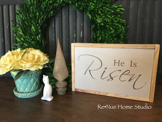 "Win A ""He Is Risen"" Handmade Easter Sign - Expires 3/18/16"