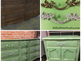 Spring Inspired Repurposed Furniture & Hardware Project