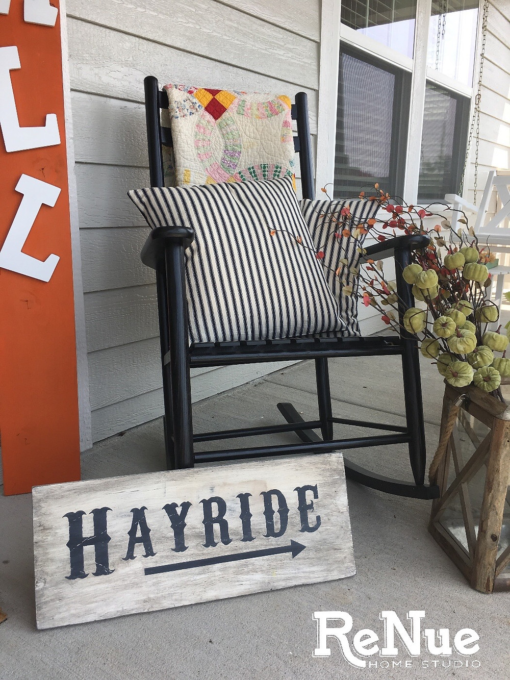 Front Porch Rocking Chair Decorating Ideas