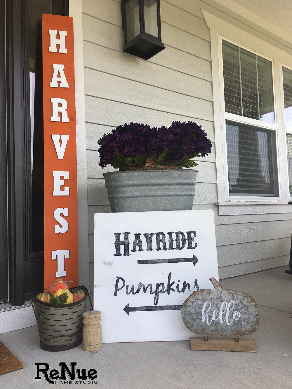 Hayride and Pumpkins Sign