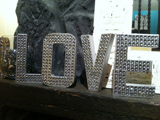 "DIY Valentine's Day Projects: Sparkle Gem ""LOVE"" Letters"