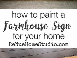 How to Paint a Farmhouse Sign