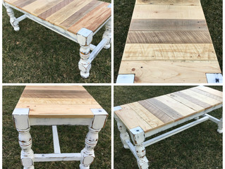 DIY Repurposed Bed Legs Into Bench Legs