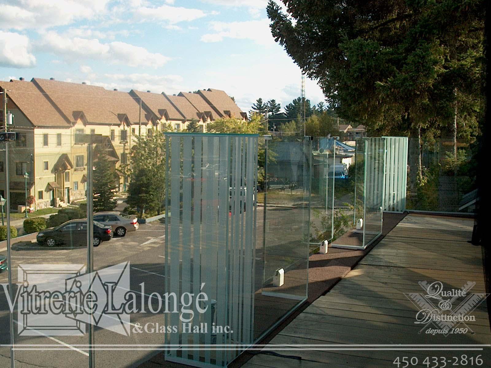 Rampe en verre pour terrasse