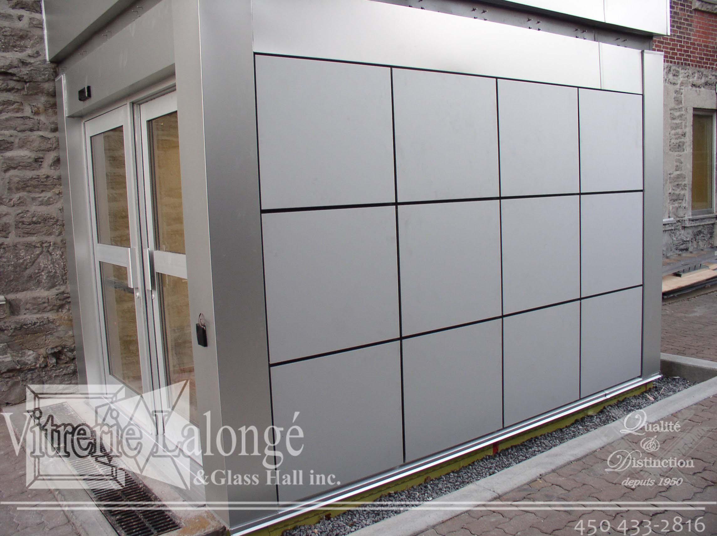 Vestibule en aluminium