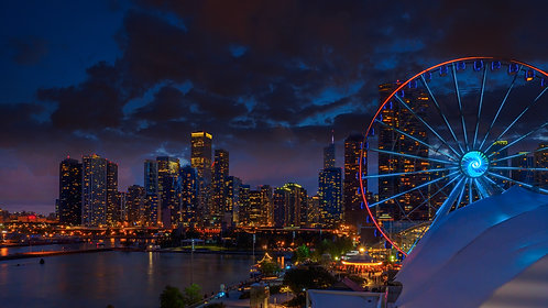 Navy Pier at Sunset 2