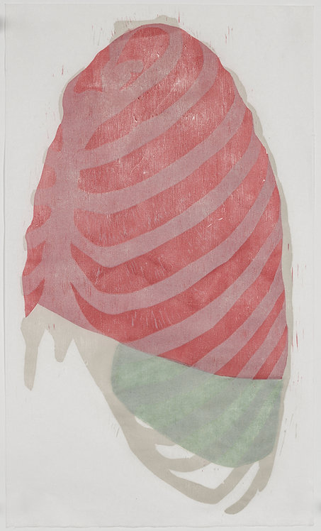 Therese Tripoli, 'Lateral View of Thorax from Gray's Anatomy', 2018