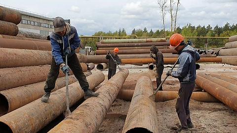 Механическа обработка это первый этап восстановления трубы.