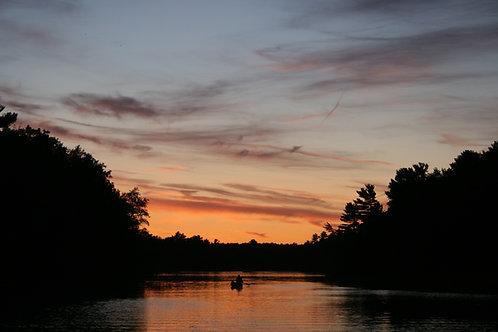 Chain O Lakes Sunset Canoe