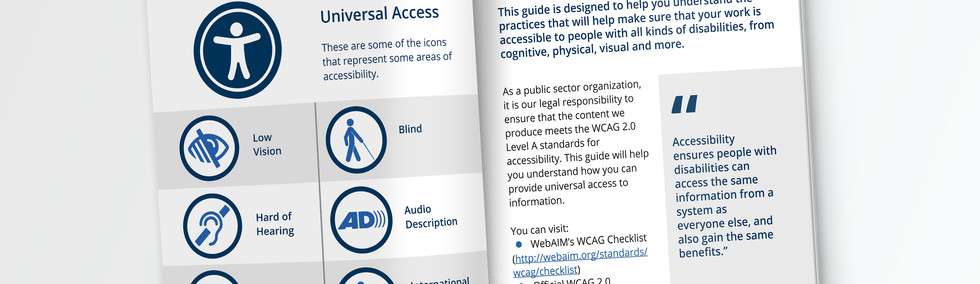 Icons of accessibility and Designing for people
