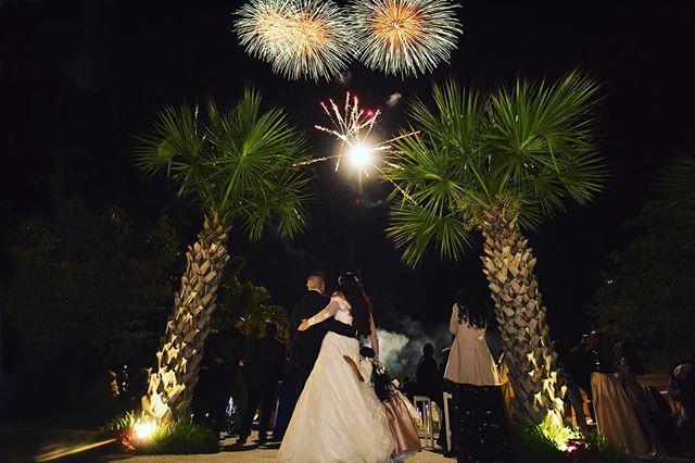 #fireworks #night #wedding #sorprise #lo