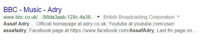 Assaf Adry - BBC MUSIC Radio - אסף אדרי