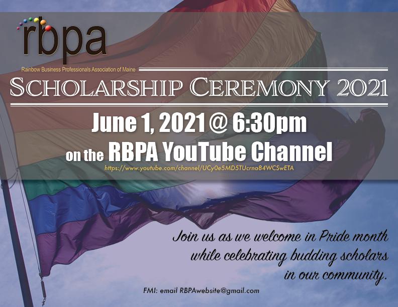 RBPA 2021 scholarship celebration announ