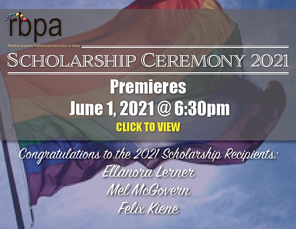 RBPA 2021 scholarship celebration we not