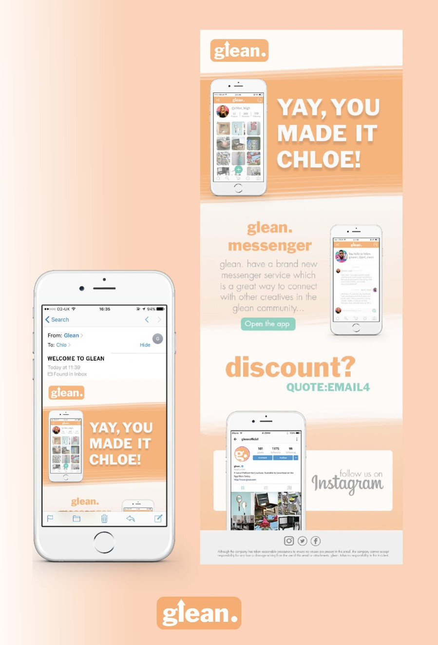Glean Upcycling App for a Sustainable Future 2017