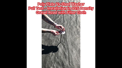 Poly Plate Vs Steel Washer Pull Test