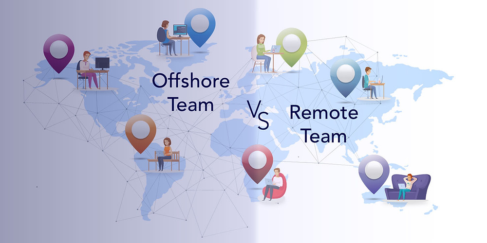 difference between offshore & remote team
