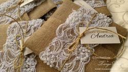 invitacion burlap and lace