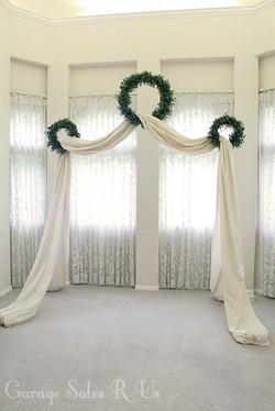 guildalda con telas boda greishka