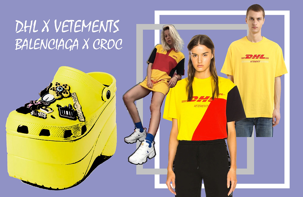 The DHL x Vetements collaboration collection and the Balenciaga Croc shoe