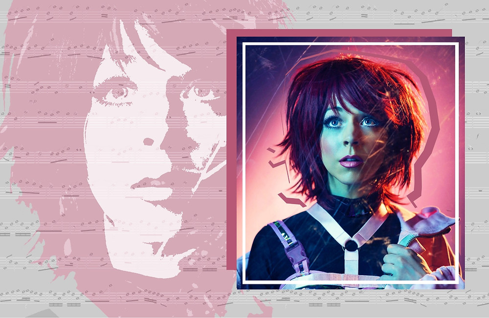 Collage of Lindsey Stirling shot by F Scott Schafer