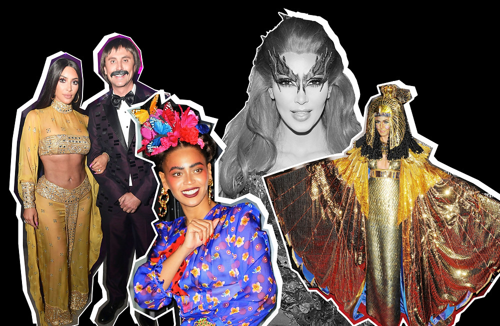 Kim Kardashian as Cher and Poison Ivy, Beyoncé as Frida Kahlo and Heidi Klum as Cleopatra