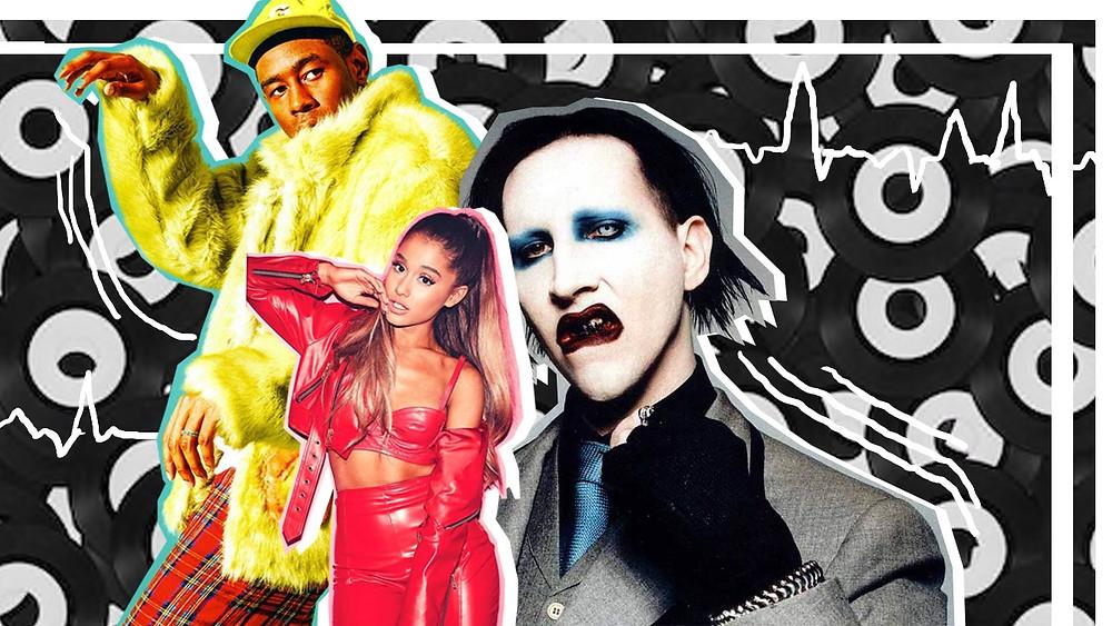 Tyler the Creator, Ariana Grande and Marylin Manson