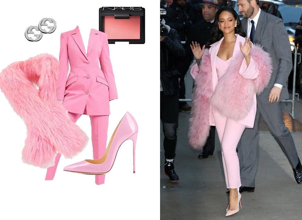 Rihanna, ASOS, Toytountzis Furs, Onlymaker, GUCCI and Nars