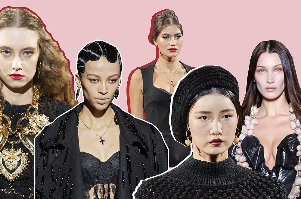 Beauty looks from Dolce & Gabbana and Vivienne Westwood AW20 shows