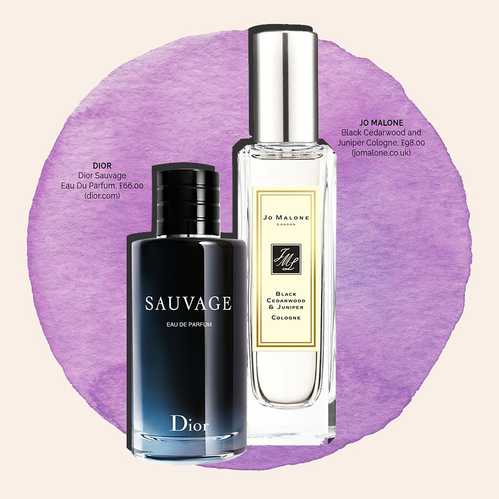 Dior Savage cologne and Black Cedarwood and Juniper cologne from Jo Malone