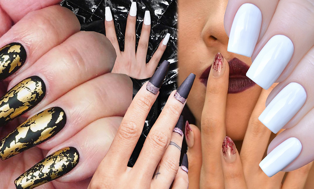 Collage of Nails Inspired by AW20 Runway Nail Trends