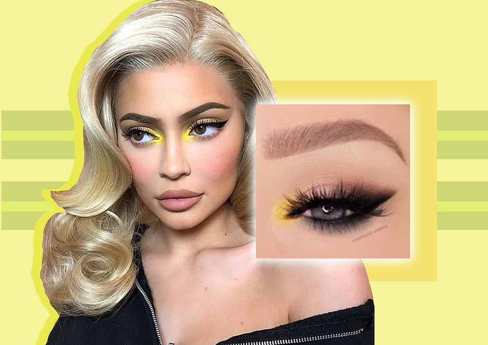 Design for the 'pop of colour' trend with Kylie Jenner