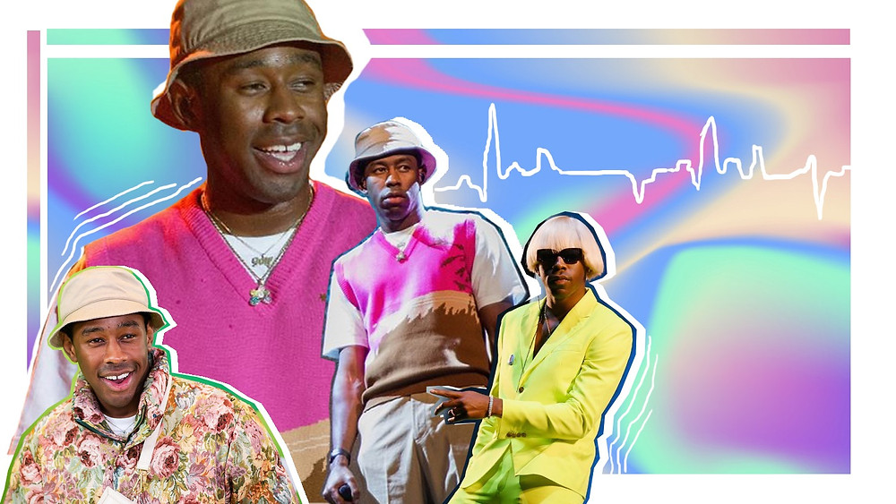 A collage of Tyler the Creator