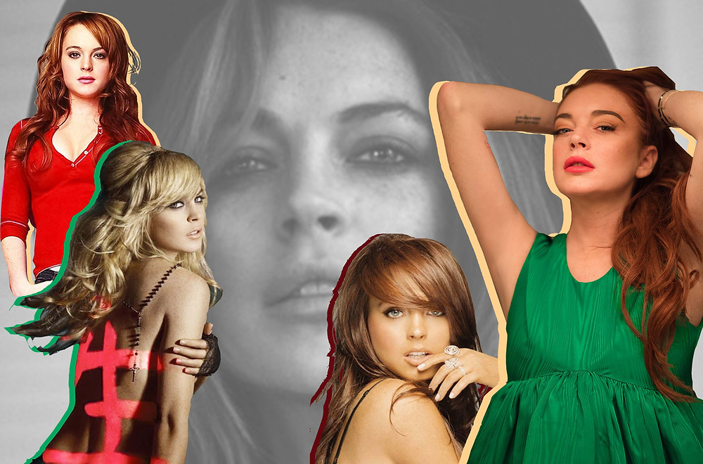 Lindsay Lohan by Jenna Greene for Variety, 'Mean Girls', her 'Speak' and 'A Little More Personal' album covers
