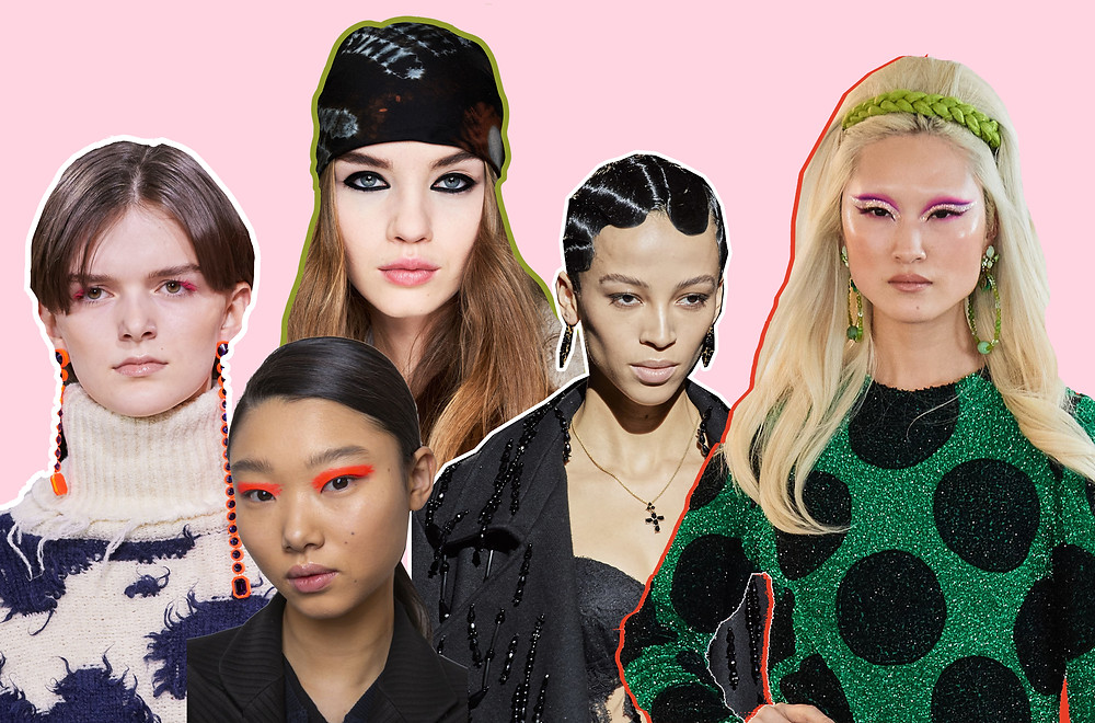 Beauty looks Off-White, Self-Portrait, Dior, Dolce & Gabanna and Ashish AW20 Collections