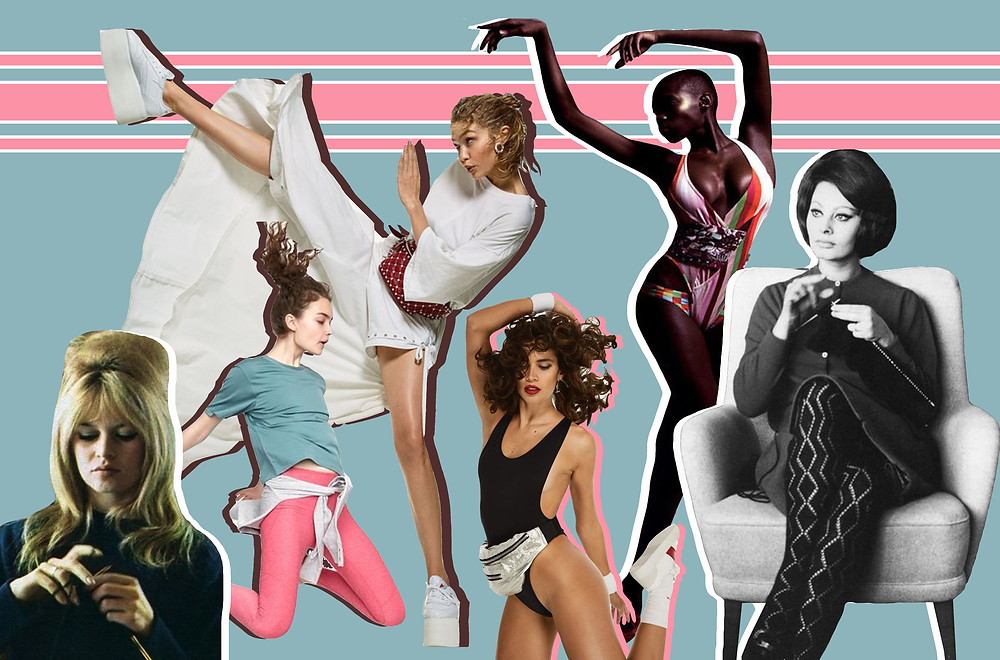 Brigitte Bardot, Gigi Hadid for Vogue, Net a Porter, and The Fashion Spot