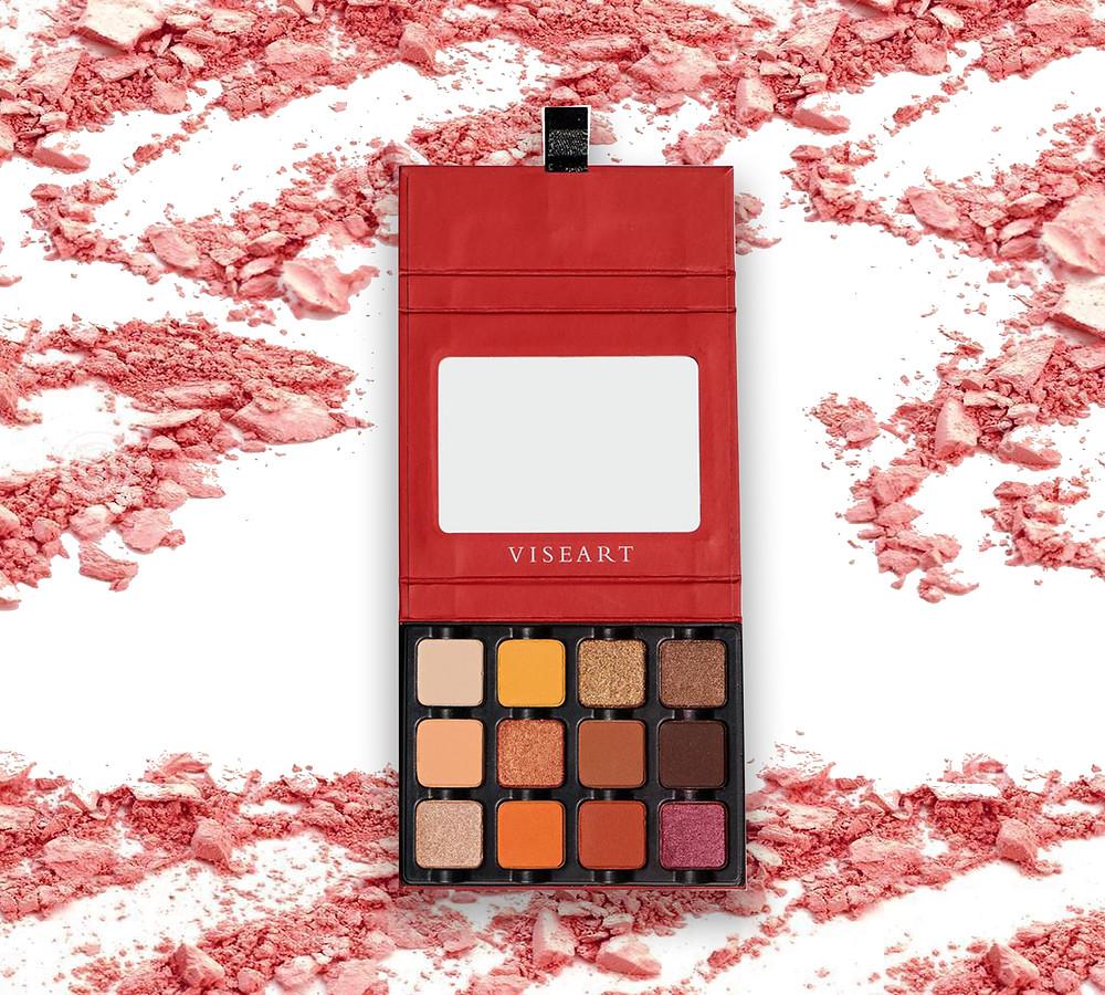 Warm EDIT eyeshadow palette by Viseart